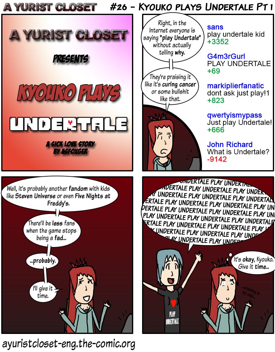 Kyouko plays Undertale Pt 1